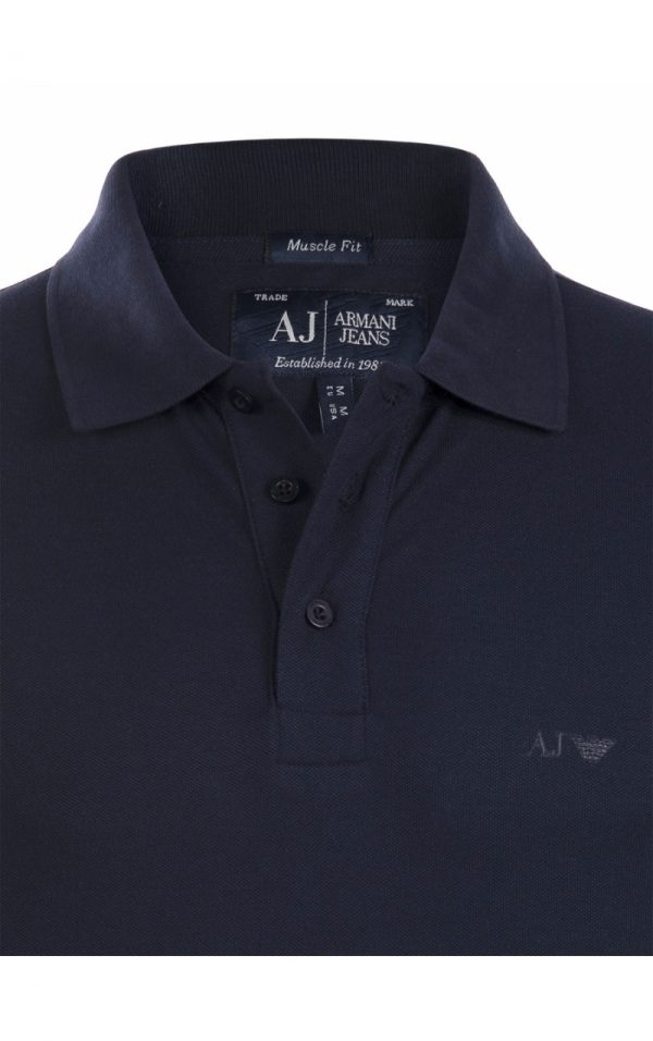 Polo Armani Jeans full navy col