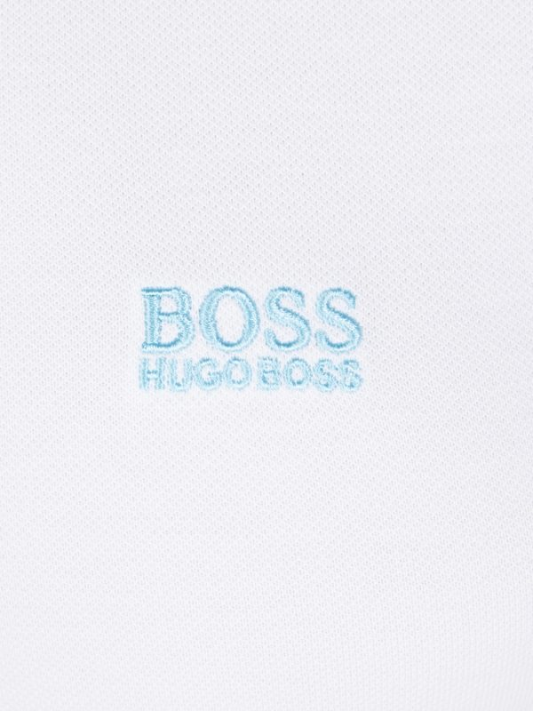 Polo Hugo Boss Blanc signe