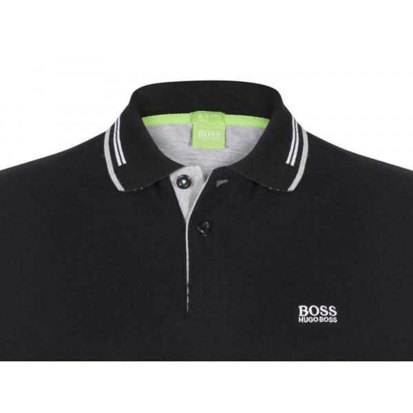 Hugo Boss - Polo manches courtes Noir - Slim Fit - Coton Stretch ... 4d9b4aec9d57