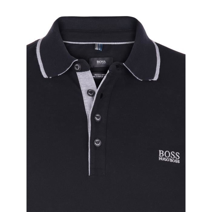Hugo Boss - Polo manches courtes Noir - Modern fit - StyleLab ... 90edc579da85