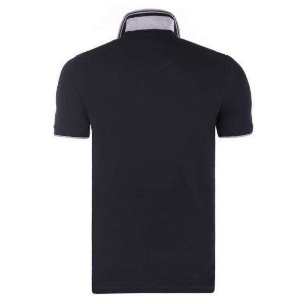 Polo Hugo Boss noir gris dos
