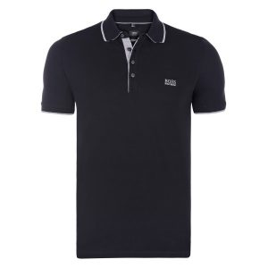 Polo Hugo Boss noir gris face