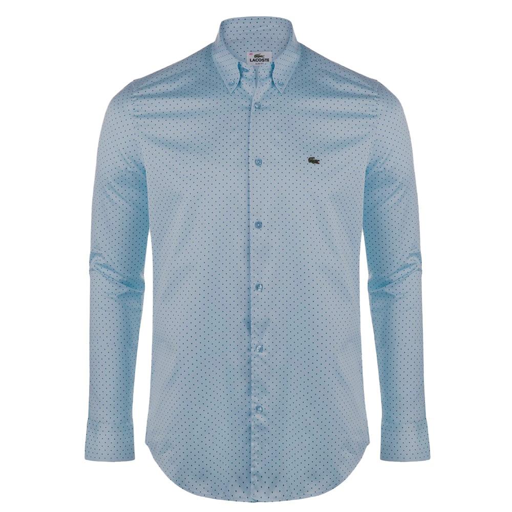 f7e46f3ccd6 Chemise Lacoste homme bleu clair - slim fit - StyleLab - Vêtements ...