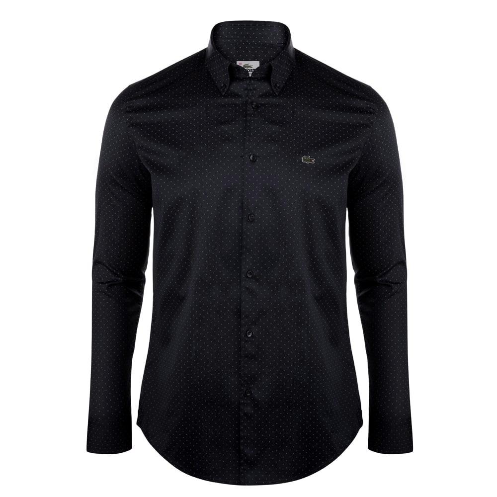 dd33d23460c Chemise Lacoste homme noir - slim fit - StyleLab - Vêtements de ...